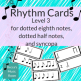 Black & White Level 3 Rhythm Cards for syncopa and single