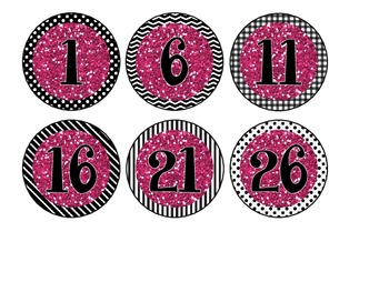 Black & White Library Bin Number Circles {Free}