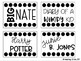 Black & White Library Labels - Editable