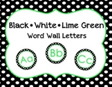 Labels - Black, White, Lime Green Word Wall Letters