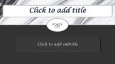 Black & White Marble Elegant!  PRETTY! PowerPoint Template