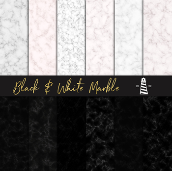 Black & White Marble Papers