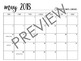 Black & White May 2017-June 2018 Calendar