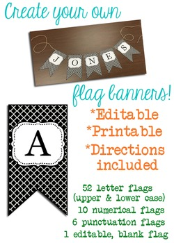 Black & White Modern Clover Flags for Banners!