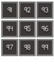 Black & White Numbers 0-100 for Calendars or Hundreds Chart