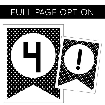 Banner Kit   Black and White Polka Dot Classroom Decor