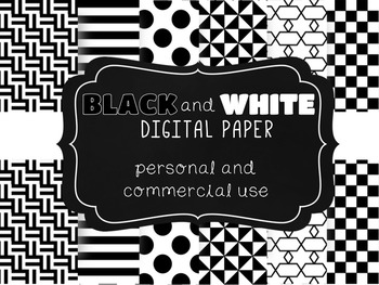 Black & White Paper file - personal and commercial use