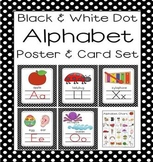 Black Dot A-Z Alphabet Poster Card & Picture Letter Sound Pack