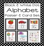 Black Dot A-Z Alphabet Poster Card & Picture Letter Sound Pack