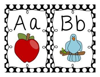 Black & White {Polka Dot} Alphabet!
