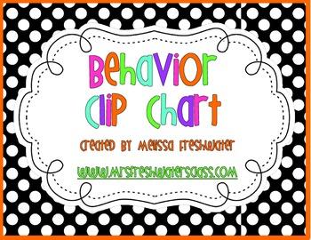 Black & White Polka Dot Behavior Clip Chart