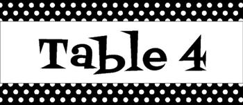 Black & White Polka Dot Caddy Labels