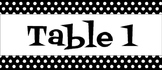 Black & White Polka Dot Caddy Labels