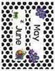 #roomdecor Black & White Polka Dot Calendar Set
