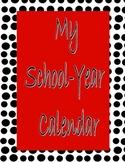 Black & White Polka Dot Calendar