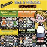 Black & White Polka Dot Classroom BUNDLE