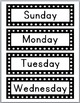 Days of the Week & Months of the Year Signs - Black and Wh