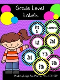 Black & White Polka Dot Grade Level Labels
