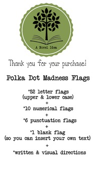 Black & White Polka Dot Madness Flags for Banners!