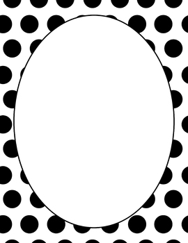 Black & White Polka Dot Paper
