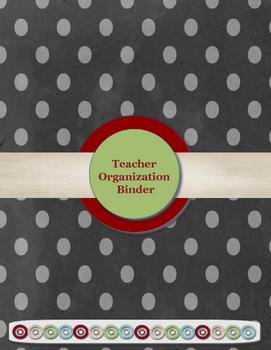 Black & Gray Polka Dot Teacher Organization Binder Bundle