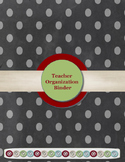 Black & Gray Polka Dot Teacher Organization Binder Bundle