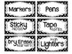 Black & White Polka Dot Teacher Toolbox Labels