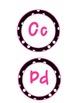 Black & White Polka Dot Word Wall Letters