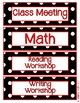 Black & White Polka Dot Daily Schedule Cards