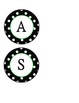 Black & White Polka Dot circles CLASS RULES letters-Lime G