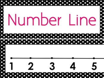 Black & White Polka Dots Number Line