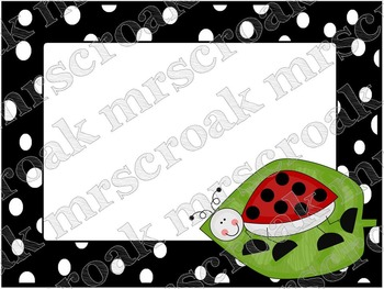 Labels: Lady Bugs with B&W polka dots, 10 per page
