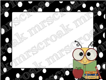 Labels: Bees with B&W polka dots, 10 per page