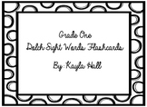Black & White Polka Dotted 1st Grade Dolch Sight Words Flashcards