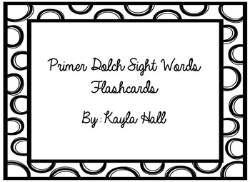 Black & White Polka Dotted Primer Dolch Sight Words Flashcards