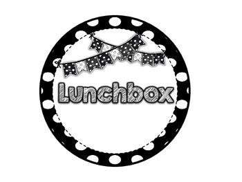 Black & White Polkadot Lunch Choice Clip Chart