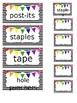 Black, White, Rainbow EDITABLE Teacher Toolkit Labels