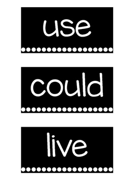 Black & White Reading Wonders Word Wall Cards - 1st Grade [EDITABLE]