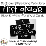 Black & White Reading Wonders Word Wall Cards - 1st Grade