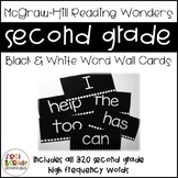Black & White Reading Wonders Word Wall Cards - Second Gra