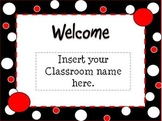 Black, White, & Red Themed Polka Dot Open House Powerpoint Template