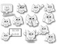 Black & White School Owls Clip Art For Personal/Commercial Use