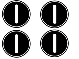 Black & White Table Numbers 1-10
