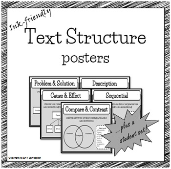 Black & White Text Structure posters