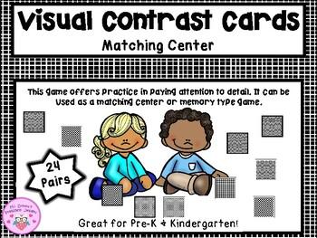 Black & White Visual Discrimination Cards