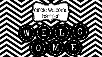 Black & White Welcome Banner