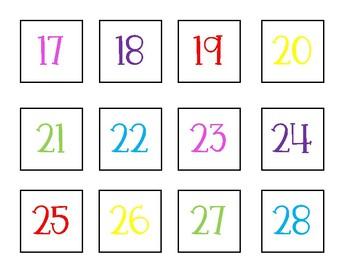 Black, White, and BRIGHT Calendar Pack