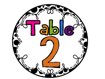 Black, White, and BRIGHT Table Signs