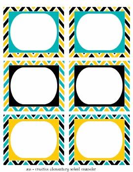 Black, White and Bold - Chevron Bin Labels - Editable