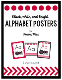 Black, White, and Bright Alphabet Posters